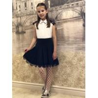 Детская юбка с французским кружевом