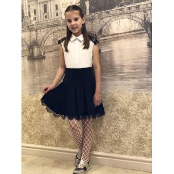 Детская юбка с французским кружевом, заказать недорого низкая цена.