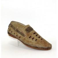 Летние мужские туфли на полную ногу