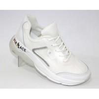 Белые текстильные кроссы