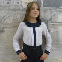 Красивая детская школьная блузка
