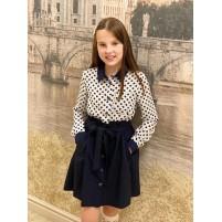 Модное школьное платье