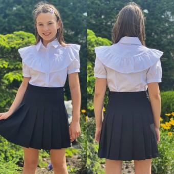 Школьная белая блузка, заказать недорого низкая цена.
