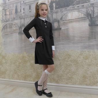 Школьное платье с длинными рукавами , заказать недорого низкая цена.