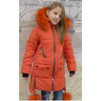 Детская куртка с опушкой