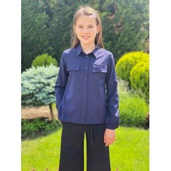 Школьная рубашка для девочек, заказать недорого низкая цена.