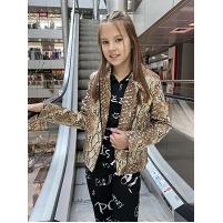 Детская весенняя кожаная курточка