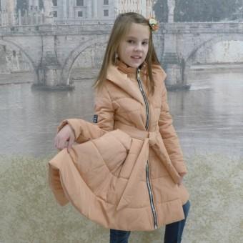 Детское пальто расклешенное, заказать недорого низкая цена.