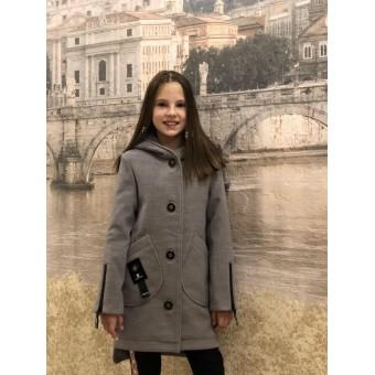 Пальто на пуговицах для девочек , заказать недорого низкая цена.