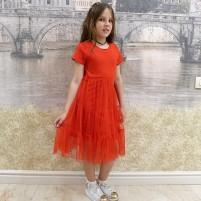 Платье нарядное детское с гипюром