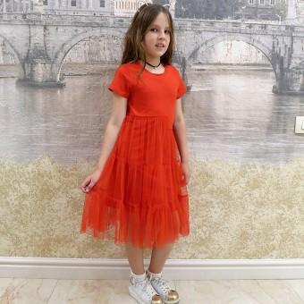 Платье нарядное детское с гипюром детское