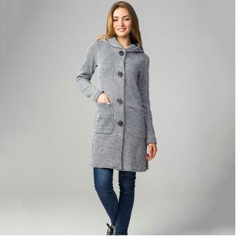 Кардиган женский серый, заказать недорого низкая цена