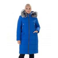 Женская удлиненная куртка с мехом