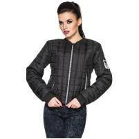 Куртка бомбер черная женская