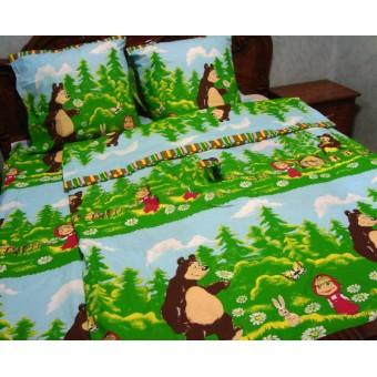 Постельное белье маша и медведь цена 320 грн, заказать недорого низкая цена.