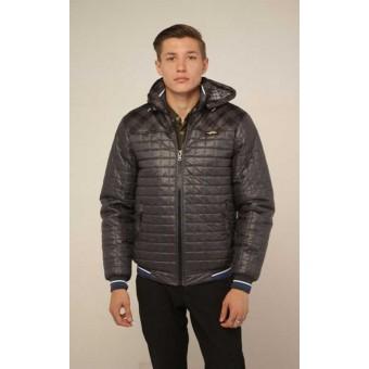 Мужская короткая куртка на молнии с резинкой, заказать недорого низкая цена.